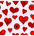 seamless hearts pattern-07 vector image vector image