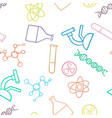 seamless pattern background chemistry concept vector image vector image