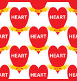 seamless pattern with card suits symbols hearts vector image vector image
