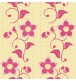 Seamless pink flowers ornate background vector image vector image