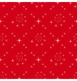 seamless red background white stars vector image