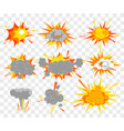 set of explosion effect in vector image