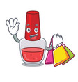 shopping nail polish character cartoon vector image
