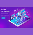 smart city or intelligent building isometric vector image
