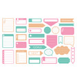 to-do list reminder note memo sticker icon set vector image vector image