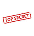 top secret sign sticker stamp texture vector image