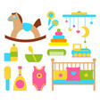 toys and items for children vector image vector image