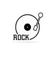 vinyl rock vector image