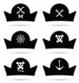 pirate hat set in black vector image