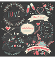 Wedding collection vector image
