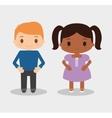Boy and girl kid cartoon design vector image