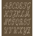 abc set handwritten vector image