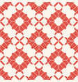abstract vintage floral seamless pattern red and vector image
