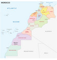 administrative and political map morocco vector image vector image