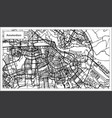 amsterdam holland map in black and white color vector image vector image