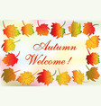 autumn colorful fall leafs greetings card vector image vector image