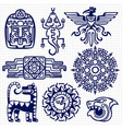 ballpoint pen american aztec mayan culture native vector image