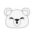 bear cute cartoon vector image
