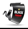 Black realistic curved modern banner Black friday vector image
