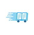 book delivery logo icon design vector image vector image