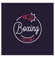 boxing club logo round linear logo vector image vector image