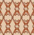 Brown floral background vector image