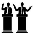 business men at tribune vector image vector image