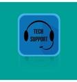 Call Centrum Flat Design Button Tech Support vector image vector image