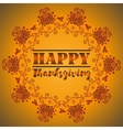 Card design style Happy Thanksgiving Day vector image vector image