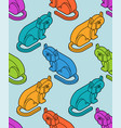 cat isometrics pattern home pet 3d background vector image vector image