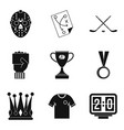 champ icons set simple style vector image vector image