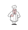 Chef Cook Thumbs Up Isolated Cartoon vector image vector image