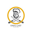 chef knife vector image