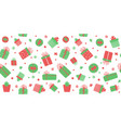 christmas gift boxes seamless pattern cute vector image