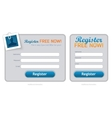 clean registration form vector image vector image