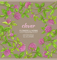 clover frame vector image vector image