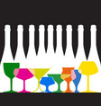 cocktail party list vector image