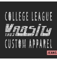 College league vintage stamp vector image vector image