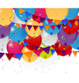 Colorful birthday balloon vector image