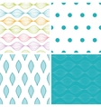 colorful horizontal ogee set of four vector image