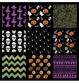 Colorful Sketched Doodle Halloween Patterns vector image vector image