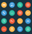 computer icons line style set with pc server vector image vector image