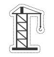 construction crane service icon vector image vector image