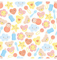 cute baby elements seamless pattern vector image vector image