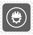 Development Hardhat Rounded Square Button vector image