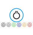 diamond ring rounded icon vector image vector image