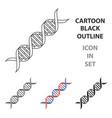 dna code icon cartoon single medicine icon from vector image vector image