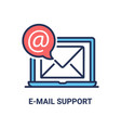 e-mail inbox - modern line icon vector image vector image
