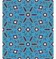 Ethnic seamless pattern in blue tones vector image vector image