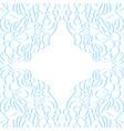 floral paper frame vector image vector image